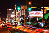 """Bad Credit"" Billboard near Entrance into LV Strip"