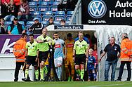 FODBOLD: Dommer Benjamin Willaume-Jantzen tager kampbolden på vej til kampen i ALKA Superligaen mellem SønderjyskE og FC Helsingør den 28. juli 2017 på Sydbank Park i Haderslev. Foto: Claus Birch