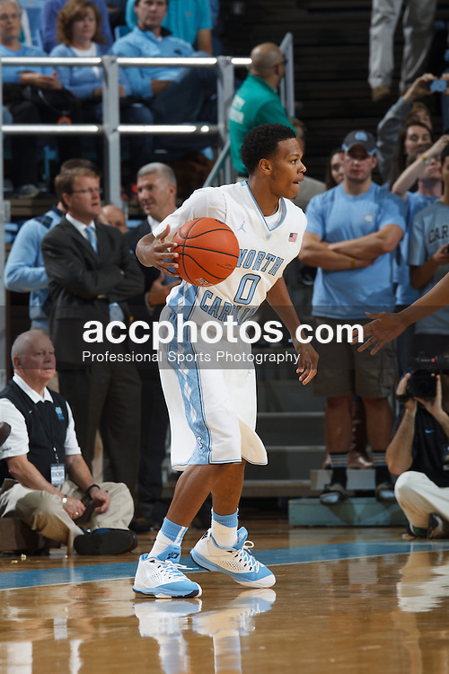 CHAPEL HILL, NC - NOVEMBER 08: Nate Britt #0 of the North Carolina Tar Heels plays the Oakland Grizzlies on November 08, 2013 at the Dean E. Smith Center in Chapel Hill, North Carolina. North Carolina won 84-61. (Photo by Peyton Williams/UNC/Getty Images) *** Local Caption *** Nate Britt