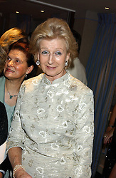 HRH PRINCESS ALEXANDRA at a ball in aid of Cystic Fibrosis held at the London Marriott, Grosvenor Square, London on 28th October 2005.<br />
