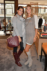 Left to right, LUCY DOUGHTY and MALIN JEFFERIES at a lunch hosted by Alice Naylor-Leyland and Tamara Beckwith in celebration of the Coach 2015 collection held at Coach, New Bond Street, London on 18th September 2014.
