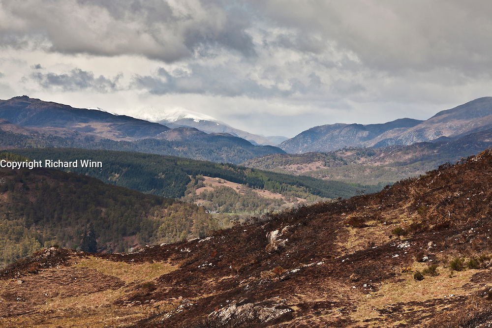 Telephoto view, looking west from the hiil fort on the Aigas Estate, looking towards Glen Affric and Glen Cannich.