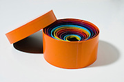 round colourful gift boxes of different sizes one inside the other with lid