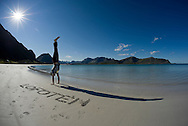 The beach at Ramberg, Lofoten Islands, Arctic Norway