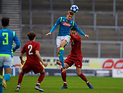 ST HELENS, ENGLAND - Monday, December 10, 2018: Napoli's's Mattia Saporetti during the UEFA Youth League Group C match between Liverpool FC and SSC Napoli at Langtree Park. (Pic by David Rawcliffe/Propaganda)