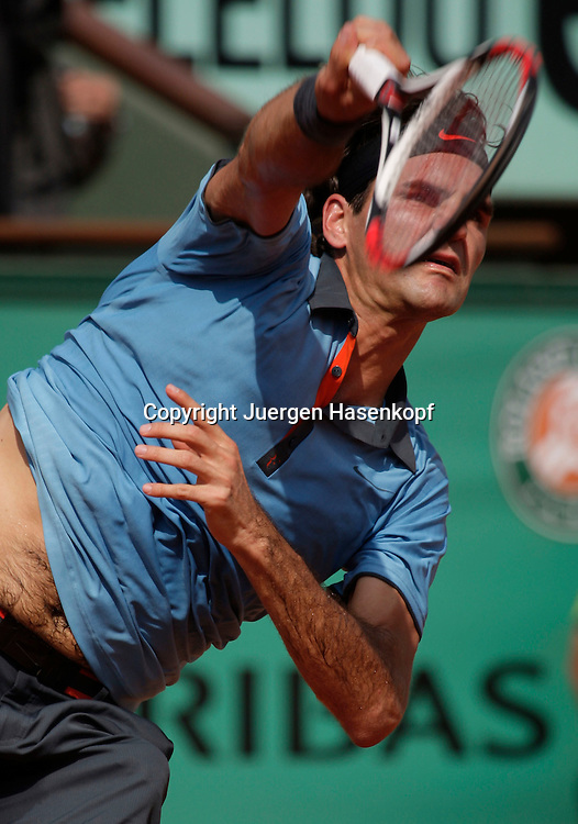 French Open 2009, Roland Garros, Paris, Frankreich,Sport, Tennis, ITF Grand Slam Tournament,  ..Roger Federer (SUI)..Foto: Juergen Hasenkopf..