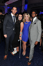 Left to right, DAVID WEBB, MONICA McGHEE, VICTORIA GRAY, and PETER BRAITHWAITE of Operatic group Amore at the Warner Music Group Post Brit Awards Party in Association with Samsung held at The Savoy, London on 20th February 2013.
