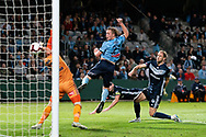 SYDNEY, AUSTRALIA - MAY 12: A Melbourne Victory own goal off Melbourne Victory defender Leigh Brougham (6) at the Elimination Final of the Hyundai A-League Final Series soccer between Sydney FC and Melbourne Victory on May 12, 2019 at Netstrata Jubilee Stadium in Sydney, Australia. (Photo by Speed Media/Icon Sportswire)