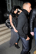 07.MARCH.2011. LONDON<br /> <br /> LEWIS HAMILTON AND GIRLFRIEND NICOLE SCHERZINGER LEAVING NOZOMI RESTAURANT IN KNIGHTSBRIDGE AT 10.30PM.<br /> <br /> BYLINE: EDBIMAGEARCHIVE.COM<br /> <br /> *THIS IMAGE IS STRICTLY FOR UK NEWSPAPERS AND MAGAZINES ONLY*<br /> *FOR WORLD WIDE SALES AND WEB USE PLEASE CONTACT EDBIMAGEARCHIVE - 0208 954 5968*