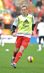 LIVERPOOL, ENGLAND - Sunday, December 2, 2007: Liverpool's Sami Hyypia before the Premiership match against Bolton Wanderers at Anfield. (Photo by David Rawcliffe/Propaganda)