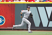 CINCINNATI, OH - JUNE 19: Jose Bautista #19 of the Toronto Blue Jays runs after a fly ball in right field against the Cincinnati Reds at Great American Ball Park on June 19, 2011 in Cincinnati, Ohio. The Reds defeated the Blue Jays 2-1. (Photo by Joe Robbins) *** Local Caption *** Jose Bautista
