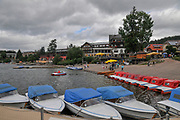 Titisee is a lake in the southern Black Forest in Baden-Württemberg, Grmany. It covers an area of 1.3 km2 (320 acres) and is an average of 20 m (66 ft) deep