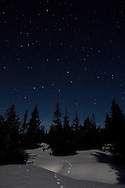 Copyright by Stefan Reimschuessel.All Rights reserved. No use without prior agreement and authorization..Tel: +44-7956-963749.email: reimster@gmail.com.<br /> Night sky in Norway, Sjusjoen near Lillehammer.