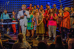 December 11, 2016 - New York, NY, United States - Reverend Billy and The Stop Shopping Choir live at Joe's Pub - Reverend Billy and the singers and musicians of The Stop Shopping Choir invite activists to come together and ask basic questions, 'ÄúWhat now? Who with? Where? When?'Äù The challenge of starting over again, of finding healing in our activism- is the gift we hope to give each other this holiday season but first, we have to Gather! (Credit Image: © Erik Mcgregor/Pacific Press via ZUMA Wire)