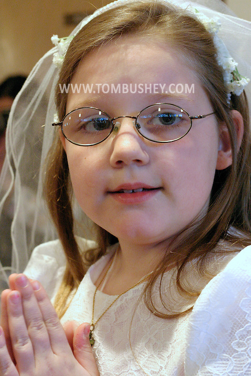 Emily Bushey's first communion...May 7, 2005.