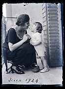 mother with toddler playing France 1924