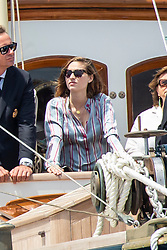 Beatrice Borromeo attends from the royal family yacht Pacha III the depart of Monaco Globe Series - Imoca World Championship. Monaco on June 03, 2018. Photo by Marco Piovanotto/ABACAPRESS.COM