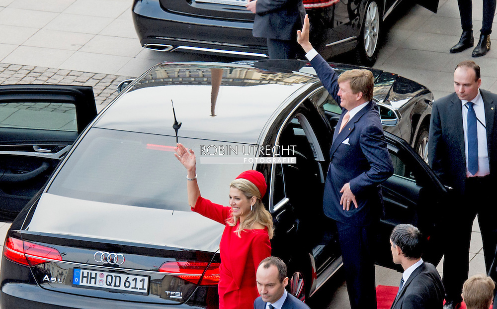 20-3-2015 - HAMBURG  - King Willem-Alexander and Queen Maxima.  King Willem-Alexander and Queen Maxima in Sleeswijk- Holstein and Hamburg COPYRIGHT ROBIN UTRECHT