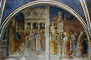 Ordination of St Stephen by St Peter'.  Fra Angelico (Guido di Pietro/Giovanni da Fiesole c1400-55) Italian painter. Fresco, Chapel of Nicholas V, Vatican Palace