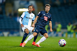 Jamie Ward of Derby is challenged by Marcus Olsson of Blackburn - Photo mandatory by-line: Rogan Thomson/JMP - 07966 386802 - 17/09/2014 - SPORT - FOOTBALL - Blackburn, England - Ewood Park Stadium - Blackburn Rovers v Derby County - Sky Bet Championship.