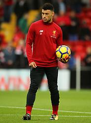 Alex Oxlade-Chamberlain of Liverpool warms up - Mandatory by-line: Matt McNulty/JMP - 28/10/2017 - FOOTBALL - Anfield - Liverpool, England - Liverpool v Huddersfield Town - Premier League