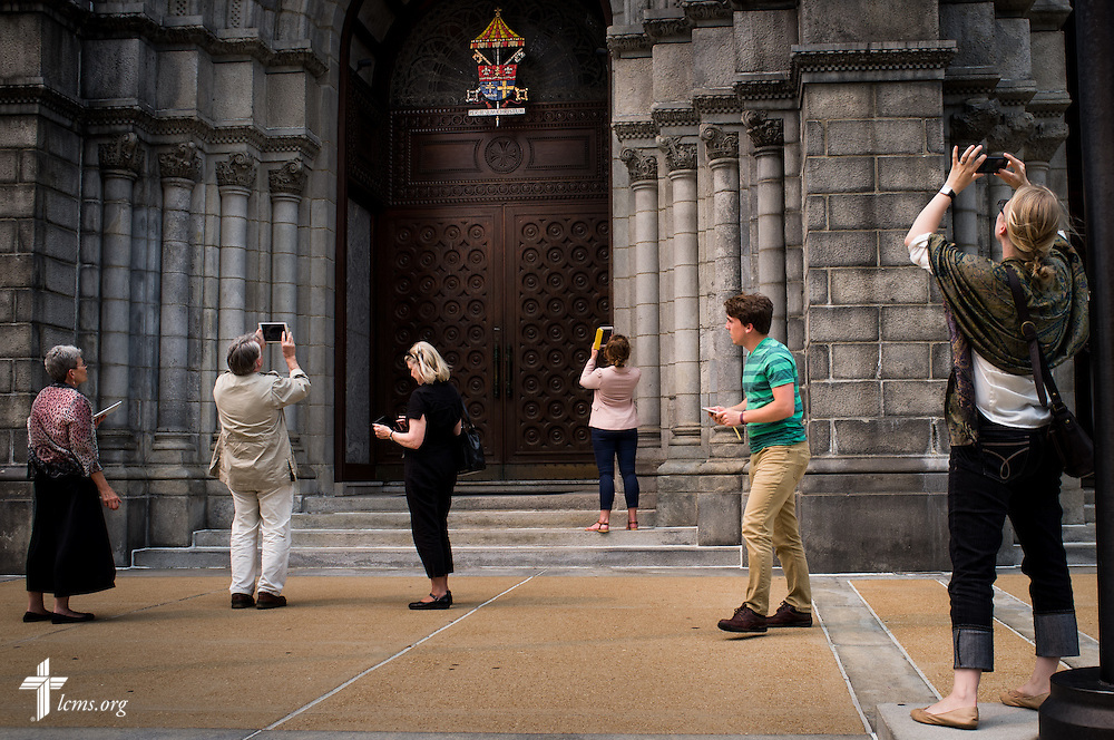 New missionaries visit and tour the Cathedral Basilica of Saint Louis on Tuesday, June 30, 2015, in midtown St. Louis. LCMS Communications/Erik M. Lunsford