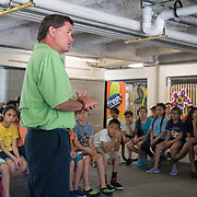 KEY BISCAYNE, FLORIDA, MARCH 22, 2017<br /> Students listen to instructions from Dr. Julien Zaragoza, a science teacher with Miami Dade Public Schools, at the Marjory Stoneman Douglas Biscayne Nature Center as part of the United Nations World Water Day activities. Philippe Cousteau, Jr and the EarthEcho team aided by Miami Waterkeeper and educators from the Nature Center, worked with 125 fifth grade students from Citrus Grove Elementary School and the American Heritage School.<br /> (Photo by Angel Valentin/Freelance)
