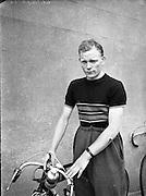 Carl McCarthy Cyclist with the Irish Road Club.19/07/1953