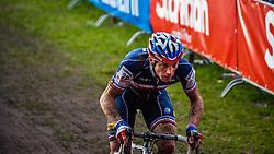 Francis MOUREY (20,FRA), 6th lap at Men UCI CX World Championships - Hoogerheide, The Netherlands - 2nd February 2014 - Photo by Pim Nijland / Peloton Photos