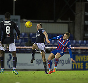 30th January 2018, Tulloch Caledonian Stadium, Inverness, Scotland; Scottish Cup 4th round replay, Inverness Caledonian Thistle versus Dundee; Dundee's Cammy Kerr and Inverness Caledonian Thistle's John Baird