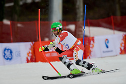 Kirk SCHORNSTEIN competing in the Alpine Skiing Super Combined Slalom at the 2014 Sochi Winter Paralympic Games, Russia