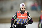 DAVOS, SCHWEIZ - 2016-12-09: Heidi Weng under tr&auml;ning inf&ouml;r Viessmann FIS Cross Country World Cup den 9 december, 2016 i Davos, Schweiz. Foto: Nils Petter Nilsson/Ombrello<br /> ***BETALBILD***