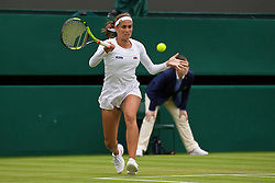 LONDON, ENGLAND - Wednesday, June 29, 2016: Monica Puig (PUR) during the Ladies' Singles 1st Round match on day three of the Wimbledon Lawn Tennis Championships at the All England Lawn Tennis and Croquet Club. (Pic by Kirsten Holst/Propaganda)