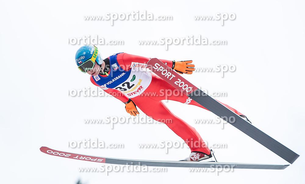 11.01.2014, Kulm, Bad Mitterndorf, AUT, FIS Ski Flug Weltcup, Bewerb, im Bild Jan Ziobro (POL) // Jan Ziobro (POL) during the FIS Ski Flying World Cup at the Kulm, Bad Mitterndorf, Austria on <br /> 2014/01/11, EXPA Pictures &copy; 2014, PhotoCredit: EXPA/ JFK