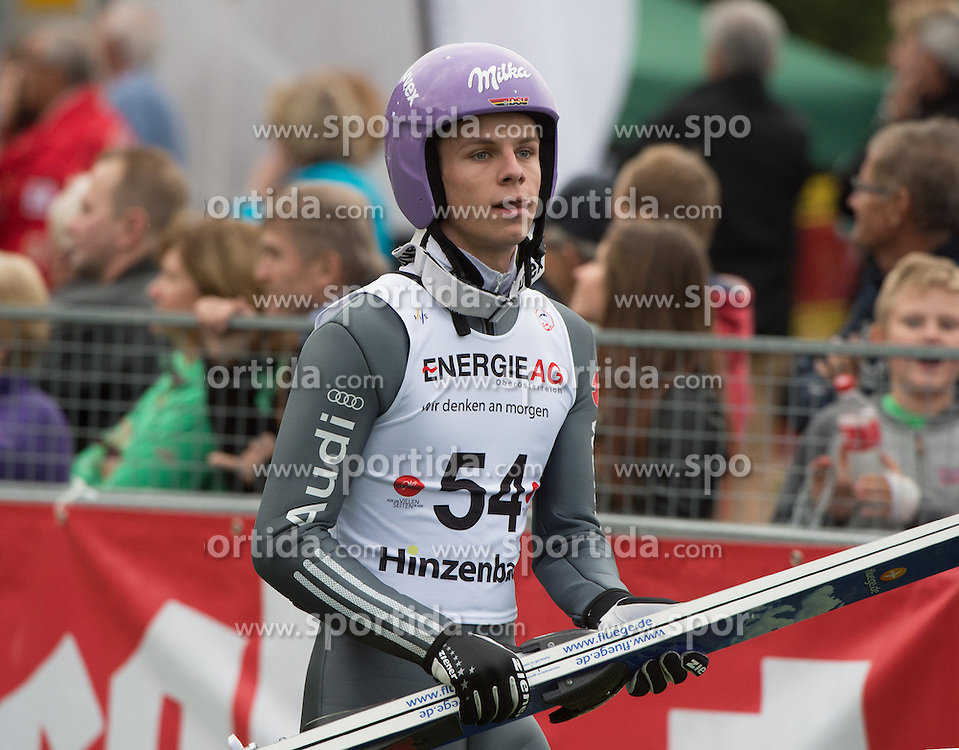 26.09.2015, Energie AG Skisprung Arena, Hinzenbach, AUT, FIS Ski Sprung, Sommer Grand Prix, Hinzenbach, Training, im Bild Andreas Wellinger (GER) during FIS Ski Jumping Summer Grand Prix Trainingsession, at the Energie AG Skisprung Arena, Hinzenbach, Austria on 2015/09/26. EXPA Pictures © 2015, PhotoCredit: EXPA/ Reinhard Eisenbauer