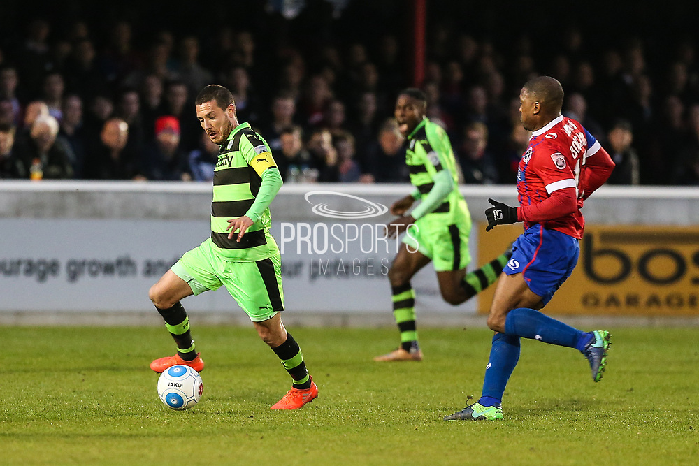 Forest Green Rovers Liam Noble(15) runs forward during the Vanarama National League first leg play off match between Dagenham and Redbridge and Forest Green Rovers at the London Borough of Barking and Dagenham Stadium, London, England on 4 May 2017. Photo by Shane Healey.