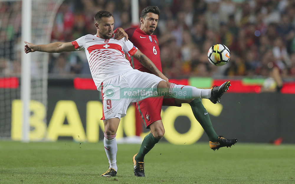 October 10, 2017 - Na - Lisbon, 10/10/2017 - The Portuguese football team received their Swiss counterpart tonight at the last stage of the group stage of qualification for the 2018 FIFA World Cup in Russia , next June. Portugal won 2-0 to reach the final. Seferovic and José Fonte  (Credit Image: © Atlantico Press via ZUMA Wire)