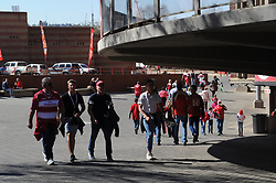 28-07-18 Emirates Airline Park, Johannesburg. Super Rugby semi-final Emirates Lions vs NSW Waratahs. Fans walk into the stadium. Picture: Karen Sandison/African News Agency (ANA)