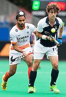BRASSCHAAT (ANTWERP - Belgium) -  Francois Goyet  (France) during the Fintro Hockey World League Semi-Final match between the men of India and France (3-2) COPYRIGHT WORLDSPORTPICS KOEN SUYK