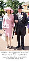 LORD & LADY VESTEY at Royal Ascot on 18th June 2002.	PBC 5