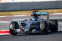ROSBERG nico (ger) mercedes gp mgp w06 action during Formula 1 winter tests 2015 at Barcelona, Spain from February 19th to 22nd. Photo DPPI / Florent Gooden.
