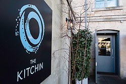 Entrance to The Kitchin restaurant in Leith , Edinburgh, Scotland, United Kingdom
