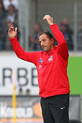 24.09.2014, Voith Arena, Heidenheim, GER, 2. FBL, 1. FC Heidenheim vs 1. FC Nuernberg, 7. Runde, im Bild Trainer Frank Schmidt (1.FC Heidenheim) // during the 2nd German Bundesliga 7th round match between 1. FC Heidenheim and 1. FC Nuernberg at the Voith Arena in Heidenheim, Germany on 2014/09/24. EXPA Pictures © 2014, PhotoCredit: EXPA/ Eibner-Pressefoto/ Langer<br /> <br /> *****ATTENTION - OUT of GER*****
