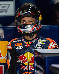 October 22, 2016 - Melbourne, Victoria, Australia - Dutch rider Bo Bendsneyder (#64) of Red Bull KTM Ajo in his garage during the Moto3 Qualifying session at the 2016 Australian MotoGP held at Phillip Island, Australia. (Credit Image: © Theo Karanikos via ZUMA Wire)