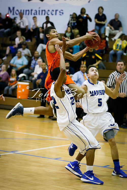 December/1/12:  MCHS Varsity Boys Basketball vs Orange.  Orange defeats Madison 54-51 in overtime.  Matt Temple led Madison with 27 points and 11 rebounds.  Bobby Ford put in 15 points for Madison.  Orange's John Marshall Gillum, a freshman, hit a three at the buzzer to send the game into overtime.