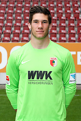 08.07.2015, WWK Arena, Augsburg, GER, 1. FBL, FC Augsburg, Fototermin, im Bild Yannik Oettl #28 (FC Augsburg) // during the official Team and Portrait Photoshoot of German Bundesliga Club FC Augsburg at the WWK Arena in Augsburg, Germany on 2015/07/08. EXPA Pictures © 2015, PhotoCredit: EXPA/ Eibner-Pressefoto/ Kolbert<br /> <br /> *****ATTENTION - OUT of GER*****