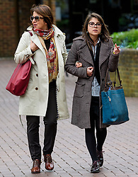 © Licensed to London News Pictures. 09/05/2017. London, UK. CAROLA CONTI (right) leaves Isleworth Crown Court in London where she and ANTHONY GRANT (not pictured) were sentenced for threatening and abusive manner towards a member of cabin staff while on a flight from Heathrow to Malaysia. The couple forced a flight from Malaysia to be diverted when they swore at crew and passengers in a row over a broken TV screen. Photo credit: Ben Cawthra/LNP