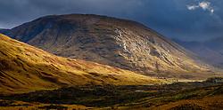 Stormy autumn weather in Glen Etive, Highlands of Scotland<br /> <br /> (c) Andrew Wilson | Edinburgh Elite media