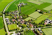 Nederland, Friesland,  gemeente S&uacute;dwest-Frysl&acirc;n, 07-05-2018; Poppenwier.<br /> Frisian village Poppenwier. <br /> <br /> luchtfoto (toeslag op standard tarieven);<br /> aerial photo (additional fee required);<br /> copyright foto/photo Siebe Swart