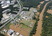 20090922  -  Atlanta, Ga : Constant rains for nearly a week saturated the metro Atlanta area including the R.M. Clayton sewage treatment plant (center) bringing flood waters to residents' doors, closing businesses and claiming the lives of at least eight by Tuesday, September 22, 2009. Cobb, Carroll, Douglas, DeKalb, Forsyth, Fulton, and Gwinnett County schools were closed because of the floods and resulting treacherous road conditions while business and homes were under water.   David Tulis         dtulis@gmail.com    ©David Tulis 2009